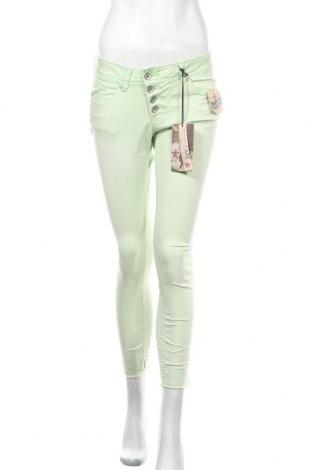 Γυναικείο παντελόνι Buena Vista, Μέγεθος XS, Χρώμα Πράσινο, 98% βαμβάκι, 2% ελαστάνη, Τιμή 11,40€