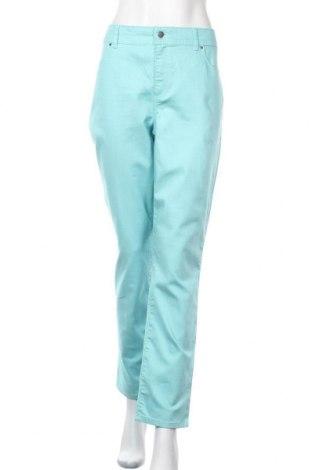 Дамски панталон Chico's, Размер L, Цвят Син, 67% памук, 31% полиестер, 2% еластан, Цена 26,78лв.
