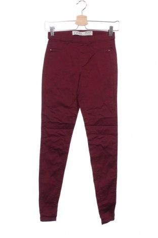 Дамски панталон Denim&Co., Размер XXS, Цвят Лилав, 70% памук, 27% полиестер, 3% еластан, Цена 6,28лв.