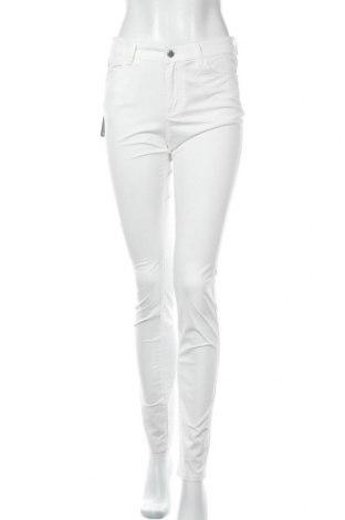 Дамски панталон Emporio Armani, Размер M, Цвят Бял, 77% памук, 20% полиестер, 3% еластан, Цена 250,92лв.