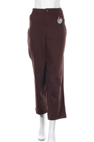 Дамски панталон Gloria Vanderbilt, Размер XXL, Цвят Кафяв, 98% памук, 2% еластан, Цена 15,12лв.