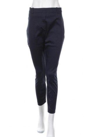 Pantaloni de femei H&M, Mărime XL, Culoare Albastru, 61% bumbac, 36% poliester, 3% elastan, Preț 93,48 Lei