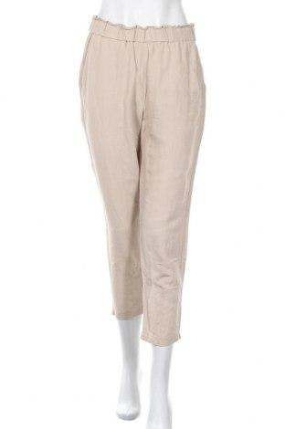 Дамски панталон H&M, Размер M, Цвят Бежов, 52% лен, 48% вискоза, Цена 19,72лв.