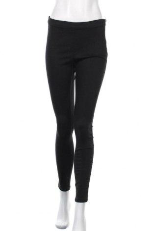 Дамски панталон H&M L.O.G.G., Размер M, Цвят Черен, 65% памук, 32% полиестер, 3% еластан, Цена 20,48лв.