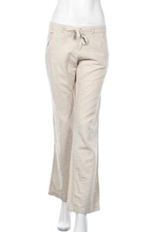Дамски панталон H&M L.O.G.G., Размер S, Цвят Сив, 54% лен, 46% памук, Цена 24,15лв.