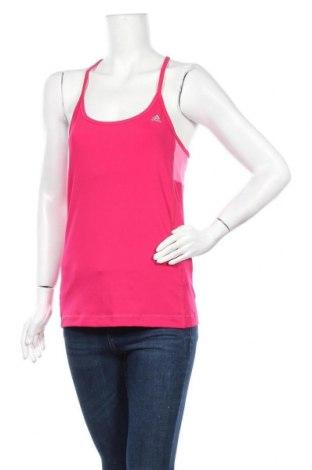 Γυναικείο αμάνικο μπλουζάκι Adidas, Μέγεθος M, Χρώμα Ρόζ , 84% πολυεστέρας, 16% ελαστάνη, Τιμή 6,14€