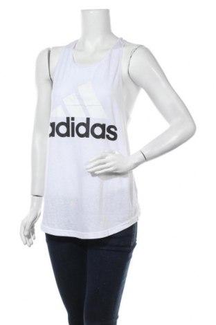 Γυναικείο αμάνικο μπλουζάκι Adidas, Μέγεθος M, Χρώμα Λευκό, 50% πολυεστέρας, 25% βαμβάκι, 25% βισκόζη, Τιμή 20,33€