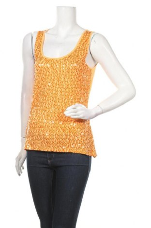 Γυναικείο αμάνικο μπλουζάκι Avant Premiere, Μέγεθος M, Χρώμα Πορτοκαλί, Βισκόζη, Τιμή 7,73€