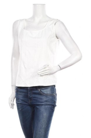Γυναικείο αμάνικο μπλουζάκι Biba, Μέγεθος L, Χρώμα Λευκό, 90% πολυαμίδη, 10% ελαστάνη, Τιμή 9,09€