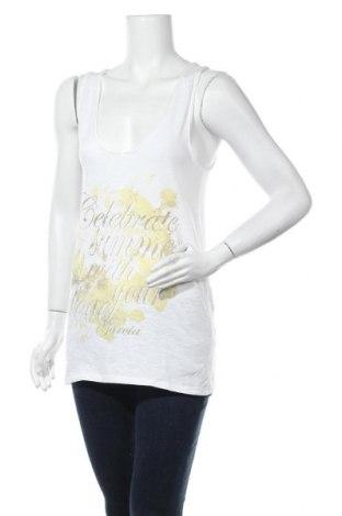 Γυναικείο αμάνικο μπλουζάκι Garcia, Μέγεθος XL, Χρώμα Λευκό, Βαμβάκι, Τιμή 9,35€