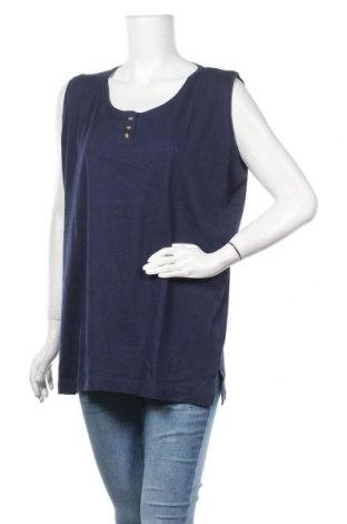 Γυναικείο αμάνικο μπλουζάκι Gina Laura, Μέγεθος XXL, Χρώμα Μπλέ, Βαμβάκι, Τιμή 9,29€