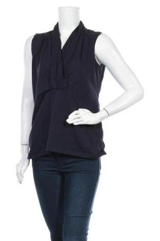 Γυναικείο αμάνικο μπλουζάκι Gina Laura, Μέγεθος L, Χρώμα Μπλέ, 95% βαμβάκι, 5% ελαστάνη, Τιμή 4,87€
