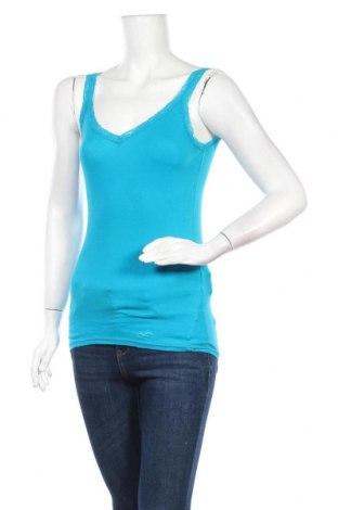 Γυναικείο αμάνικο μπλουζάκι Hollister, Μέγεθος S, Χρώμα Μπλέ, Τιμή 9,94€