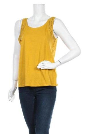 Γυναικείο αμάνικο μπλουζάκι Kiabi, Μέγεθος XL, Χρώμα Κίτρινο, Τιμή 10,39€