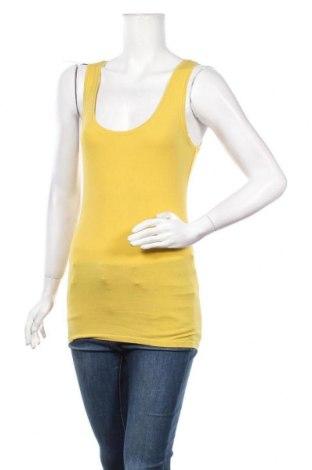 Γυναικείο αμάνικο μπλουζάκι Maddison, Μέγεθος S, Χρώμα Κίτρινο, 95% βαμβάκι, 5% ελαστάνη, Τιμή 9,09€