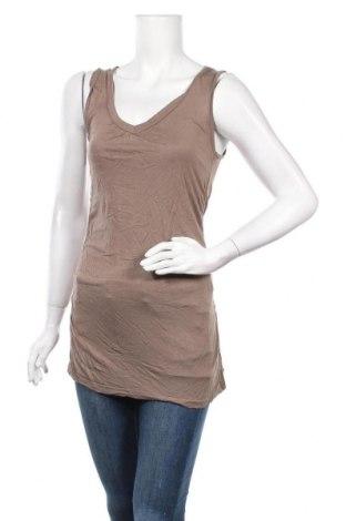 Γυναικείο αμάνικο μπλουζάκι Madonna, Μέγεθος S, Χρώμα Καφέ, Βισκόζη, Τιμή 3,64€