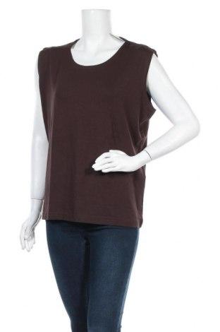 Γυναικείο αμάνικο μπλουζάκι Malva, Μέγεθος L, Χρώμα Καφέ, 92% βισκόζη, 8% ελαστάνη, Τιμή 8,18€