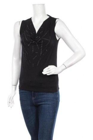Γυναικείο αμάνικο μπλουζάκι Motivi, Μέγεθος M, Χρώμα Μαύρο, 94% βισκόζη, 6% ελαστάνη, Τιμή 10,39€
