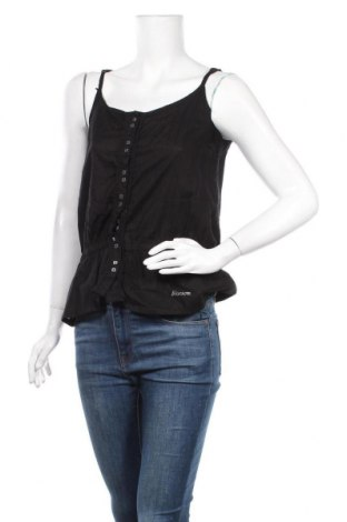 Γυναικείο αμάνικο μπλουζάκι Okay, Μέγεθος M, Χρώμα Μαύρο, Βαμβάκι, Τιμή 8,83€