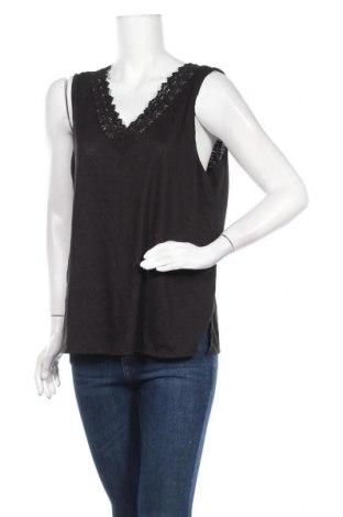 Γυναικείο αμάνικο μπλουζάκι Papaya, Μέγεθος XL, Χρώμα Μαύρο, 65% πολυεστέρας, 35% βισκόζη, Τιμή 9,35€