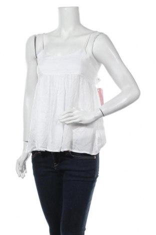 Γυναικείο αμάνικο μπλουζάκι Pink Woman, Μέγεθος S, Χρώμα Λευκό, Βισκόζη, Τιμή 9,28€