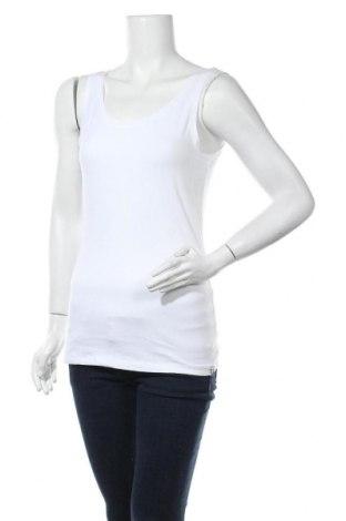 Γυναικείο αμάνικο μπλουζάκι TCM, Μέγεθος M, Χρώμα Λευκό, 90% βαμβάκι, 10% ελαστάνη, Τιμή 9,09€