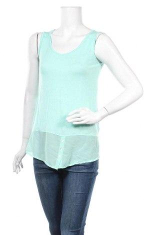 Γυναικείο αμάνικο μπλουζάκι Today, Μέγεθος XS, Χρώμα Πράσινο, 95% βισκόζη, 5% ελαστάνη, Τιμή 10,39€