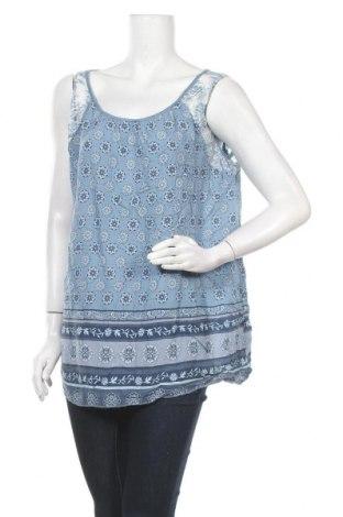 Γυναικείο αμάνικο μπλουζάκι Today, Μέγεθος L, Χρώμα Μπλέ, 95% βισκόζη, 5% ελαστάνη, Τιμή 10,39€