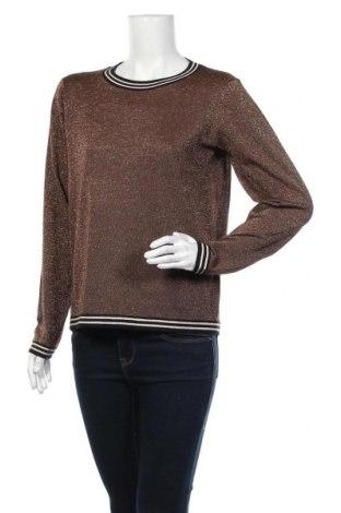 Γυναικείο πουλόβερ Soya Concept, Μέγεθος M, Χρώμα Καφέ, 65% βαμβάκι, 30% πολυεστέρας, 5% μεταλλικά νήματα, Τιμή 4,03€