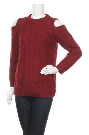Дамски пуловер Studio, Размер M, Цвят Червен, Акрил, Цена 25,60лв.