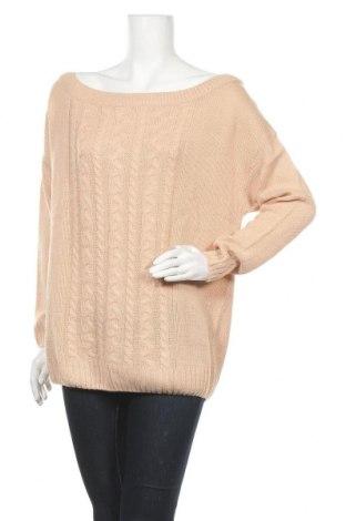 Дамски пуловер Studio, Размер XL, Цвят Бежов, Акрил, Цена 25,60лв.