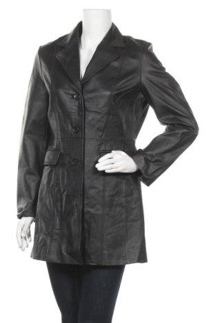 Дамски шлифер, Размер M, Цвят Черен, Естествена кожа, Цена 19,16лв.