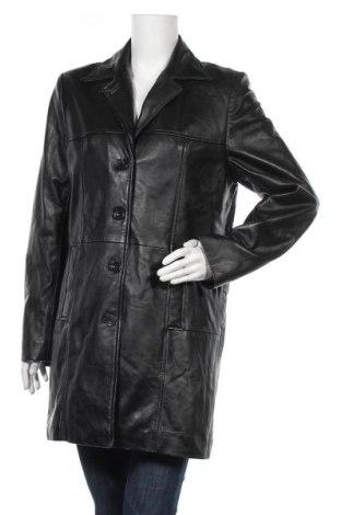 Дамско кожено яке, Размер S, Цвят Черен, Естествена кожа, Цена 22,58лв.