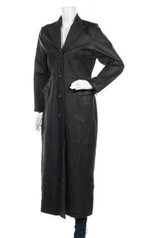 Дамски шлифер, Размер M, Цвят Черен, Естествена кожа, Цена 155,40лв.