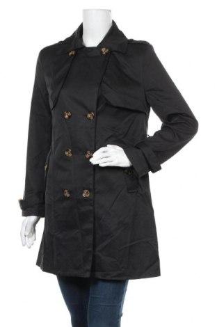 Дамски шлифер, Размер M, Цвят Черен, Полиестер, Цена 26,24лв.