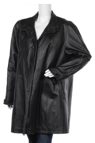 Γυναικεία καμπαρντίνα Fabiani, Μέγεθος XL, Χρώμα Μαύρο, Γνήσιο δέρμα, Τιμή 15,00€