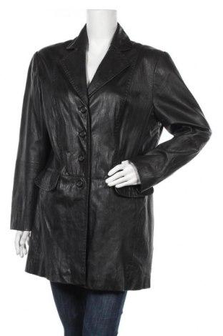 Дамски шлифер Gerry Weber, Размер XL, Цвят Черен, Естествена кожа, Цена 71,40лв.