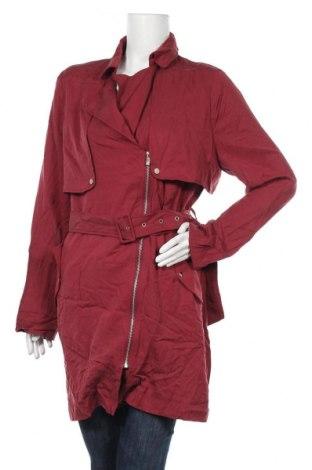 Дамски шлифер Twentyfourseven, Размер L, Цвят Червен, Тенсел, Цена 66,75лв.