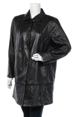 Дамско кожено палто Fabiani, Размер XL, Цвят Черен, Естествена кожа, Цена 49,25лв.
