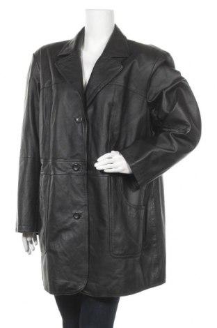 Дамско кожено палто Front Line, Размер 3XL, Цвят Черен, Естествена кожа, Цена 88,78лв.