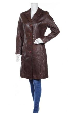 Дамско кожено палто Gipsy By Mauritius, Размер M, Цвят Кафяв, Естествена кожа, Цена 80,10лв.
