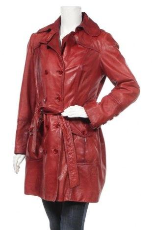 Δερμάτινο γυναικείο παλτό Heine, Μέγεθος M, Χρώμα Κόκκινο, Γνήσιο δέρμα, Τιμή 33,58€