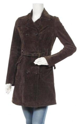 Дамско кожено палто Montgomery, Размер M, Цвят Кафяв, Естествен велур, Цена 89,28лв.
