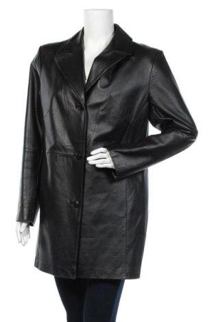 Дамско кожено палто Woman's Fashion, Размер XL, Цвят Черен, Естествена кожа, Цена 35,18лв.