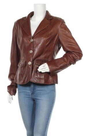 Дамско кожено сако, Размер L, Цвят Кафяв, Естествена кожа, Цена 80,85лв.
