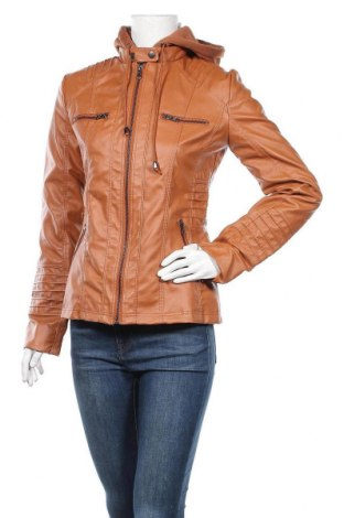 Дамско кожено яке, Размер S, Цвят Кафяв, Еко кожа, Цена 33,08лв.