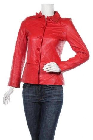 Γυναικείο δερμάτινο μπουφάν, Μέγεθος M, Χρώμα Κόκκινο, Γνήσιο δέρμα, Τιμή 53,26€