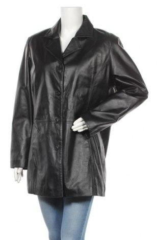 Дамско кожено яке, Размер L, Цвят Черен, Естествена кожа, Цена 20,48лв.