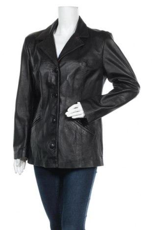 Γυναικείο δερμάτινο μπουφάν, Μέγεθος M, Χρώμα Μαύρο, Γνήσιο δέρμα, Τιμή 14,55€