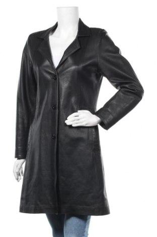 Дамско кожено яке, Размер S, Цвят Черен, Естествена кожа, Цена 21,42лв.